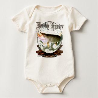 Tiger musky baby bodysuit