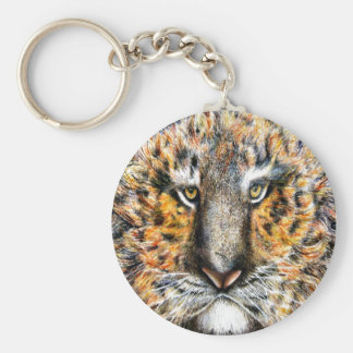 Tiger Named Tig Basic Round Button Keychain