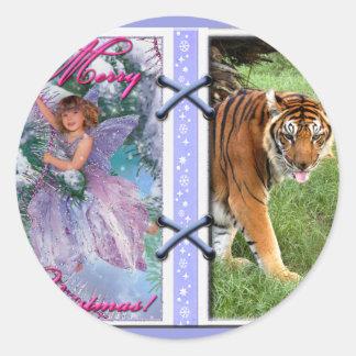 Tiger Nini-c-45 copy Classic Round Sticker