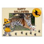 Tiger Nini Halloween Cards Fancy