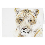 Tiger note card