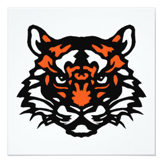 """Tiger Note Card 5.25"""" Square Invitation Card"""