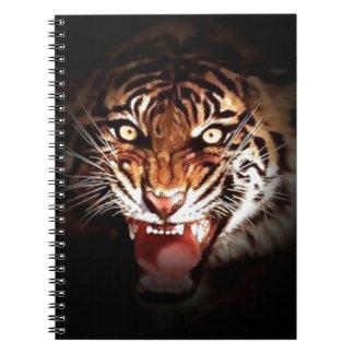 Tiger Spiral Note Book