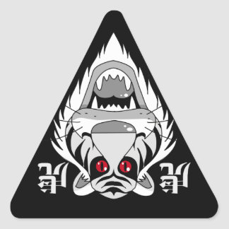 Tiger of red eye triangle sticker