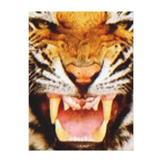 Tiger Oil Canvas Print