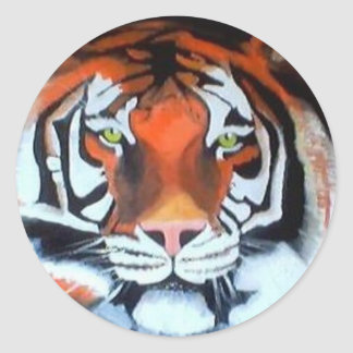 TIGER oil - Raine.JPG Classic Round Sticker