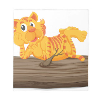 Tiger on a log note pads