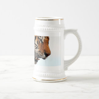 Tiger on the hunt beer stein