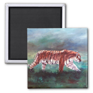 Tiger On the Prowl Manget Refrigerator Magnet
