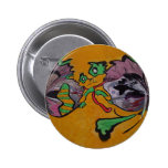 Tiger on the wall pinback buttons
