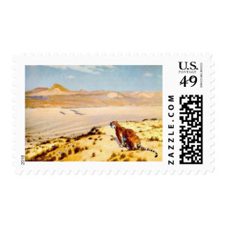 Tiger on the Watch by Jean-Leon Gerome 1884 Stamps