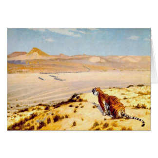 Tiger on the Watch by Jean-Leon Gerome 1888 Card