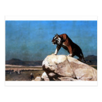Tiger on the Watch by Jean-Leon Gerome Postcard