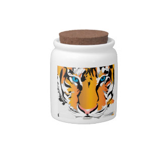 TIGER-ORANGE CANDY JAR