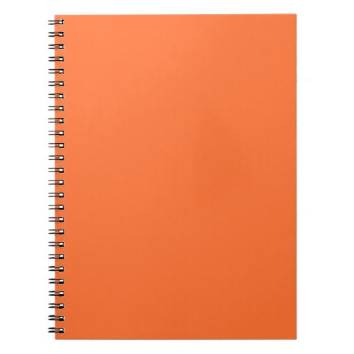 Tiger Orange Personalized Trend Color Background Note Book