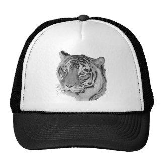 Tiger original realist wildlife art hat