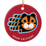 Hand shaped Tiger ornament