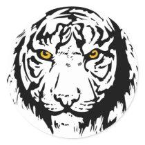 Tiger Outline Classic Round Sticker
