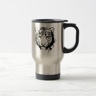 Tiger Outline Travel Mug