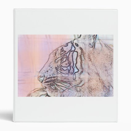 tiger outline with different colours n light lines binder