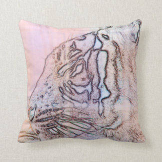 tiger outline with different colours n light lines pillow