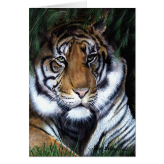 Tiger Painting  Card