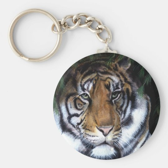 Tiger Painting keychain
