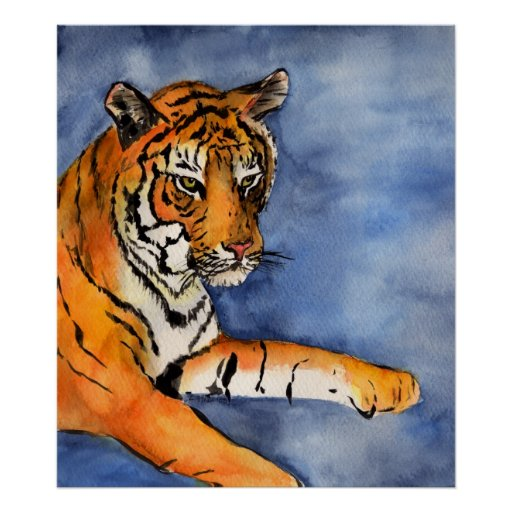 Tiger Painting Poster (Cropped)