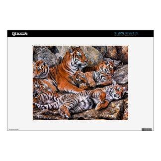 Tiger painting-tiger family-tiger cubs-tiger art laptop decals