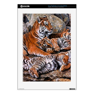 Tiger painting-tiger family-tiger cubs-tiger art PS3 decals