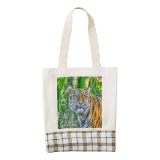 Tiger painting zazzle HEART tote bag