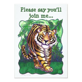 Tiger Party Center Card