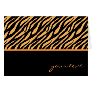 Tiger Pattern Stationery Note Card