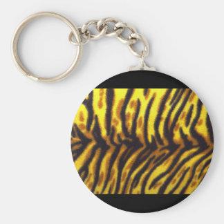 Tiger Pattern Keychain