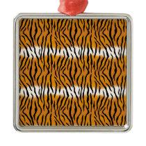 Tiger Pattern Metal Ornament