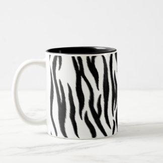 Tiger Pattern Two-Tone Coffee Mug