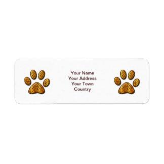 Tiger Paw #1 Label