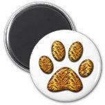 Tiger Paw #1 Refrigerator Magnets