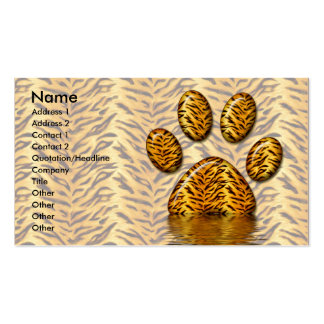 Tiger Paw #2 Business Card Template