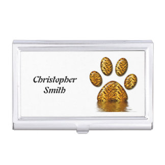 Tiger Paw #2 Business Card Holder