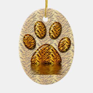 Tiger Paw #2 Ceramic Ornament