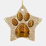 Tiger Paw #2 Christmas Ornaments