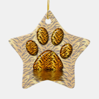 Tiger Paw #2 Christmas Ornaments