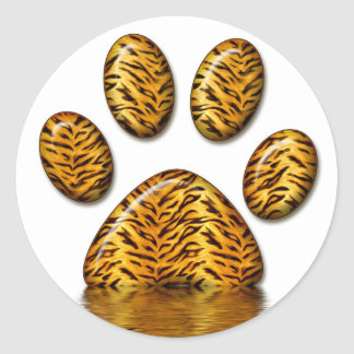 Tiger Paw #2 Classic Round Sticker