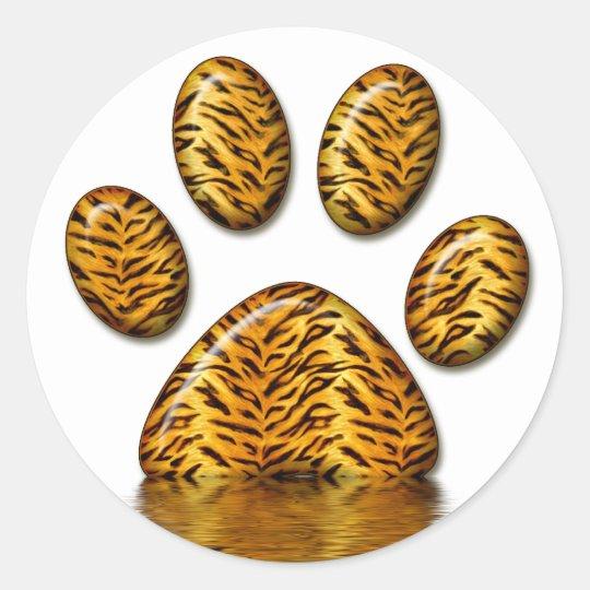 Tiger Paw #2 Classic Round Sticker