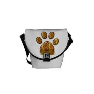 Tiger Paw #2 Courier Bag