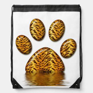 Tiger Paw #2 Drawstring Bag