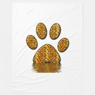 Tiger Paw #2 Fleece Blanket