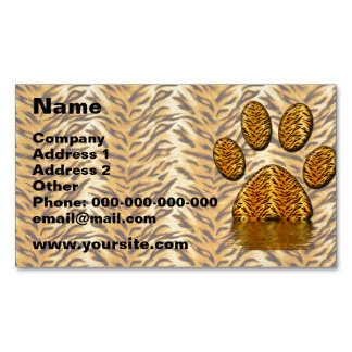 Tiger Paw #2 Magnetic Business Card