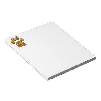 Tiger Paw #2 Memo Note Pad